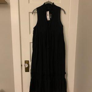 Urban Outfitters black linen dress